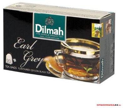Herbata DILMAH AROMAT EARL GREY (20 saszetek) czarna