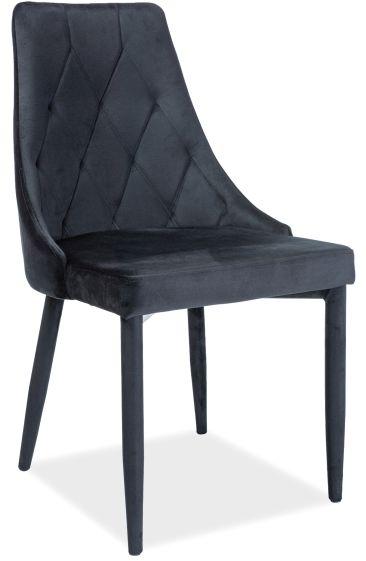 Krzesło TRIX VELVET czarne
