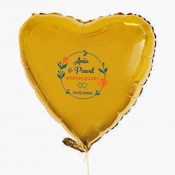 Gratulacje - Balon z helem - Serce