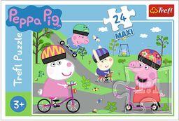 Trefl Aktywny Dzień Świnki Peppy Puzzle 24 Maxi o Wysokiej Jakości Nadruku dla Dzieci od 3 lat