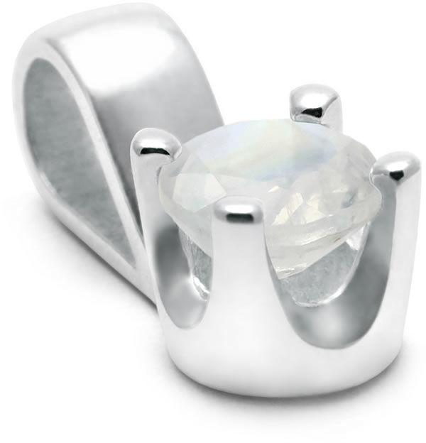 Kuźnia Srebra - Zawieszka srebrna, Kamień Księżycowy, 1g, model