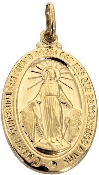 Złoty medalik 585 zawieszka szkaplerz dwustronna 2,13 g