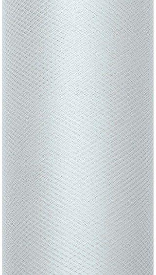 Tiul dekoracyjny szary 15cm x 9m 1 rolka TIU15-091