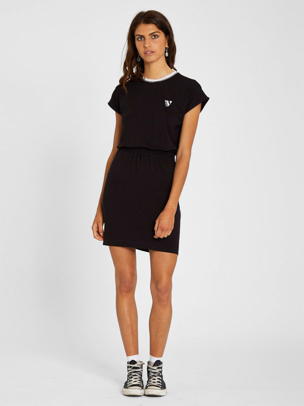 Volcom Siiya black krótkie sukienki
