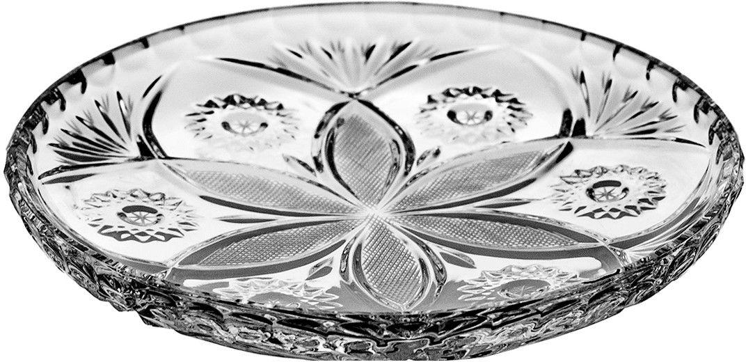 Talerze kryształowe 6 sztuk deserowe 0002