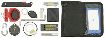 Zestaw Survivalowy - Tops Survival Neck Wallet