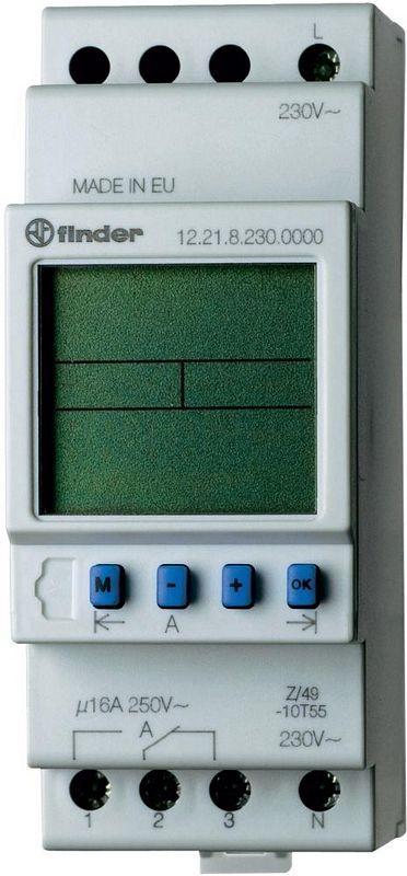 Programator tygodniowy elektroniczny Finder 12.21.0.024.0000 Programator tygodniowy elektroniczny 1CO 16A 24V AC/DC Finder 12.21.0.024.0000