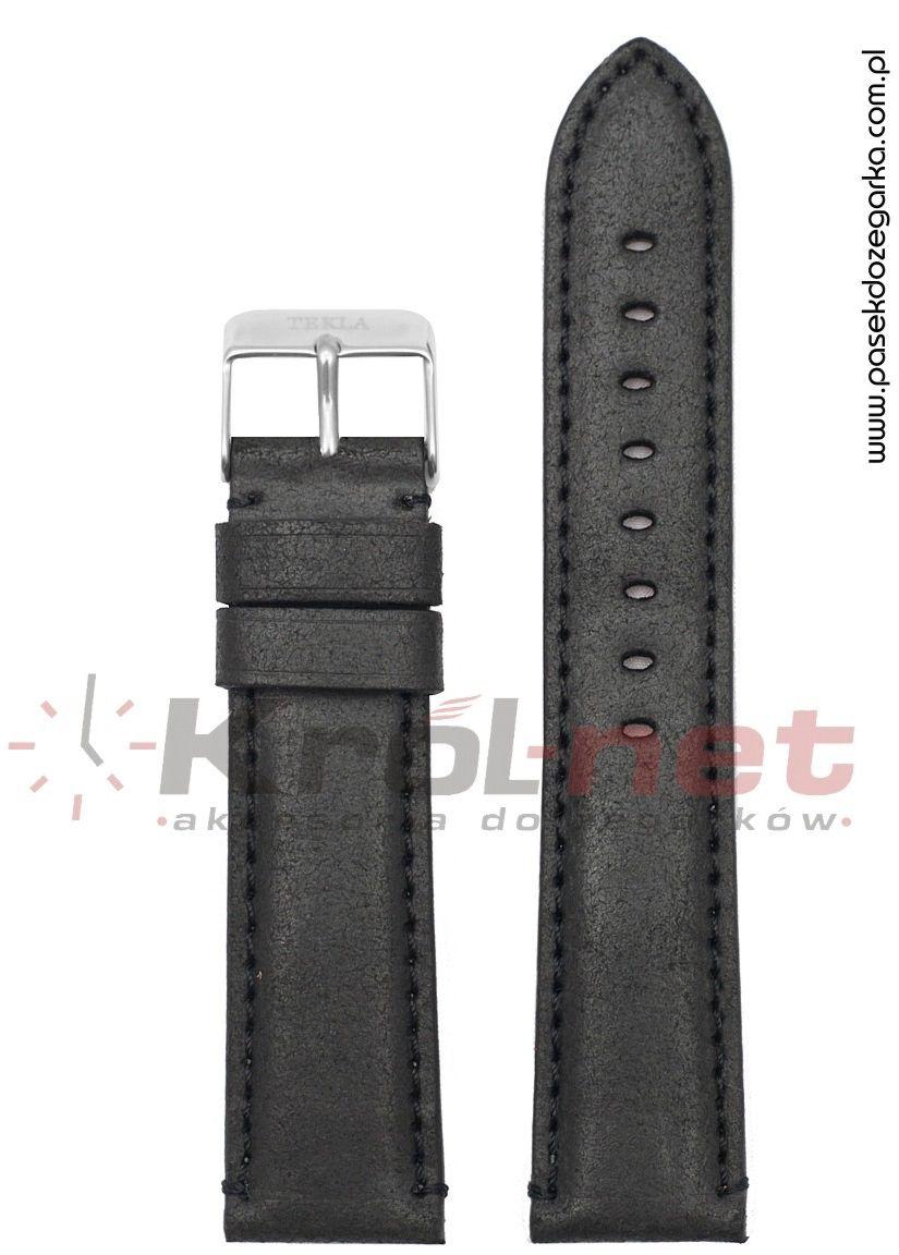 Pasek TK106/18 - czarny, retro