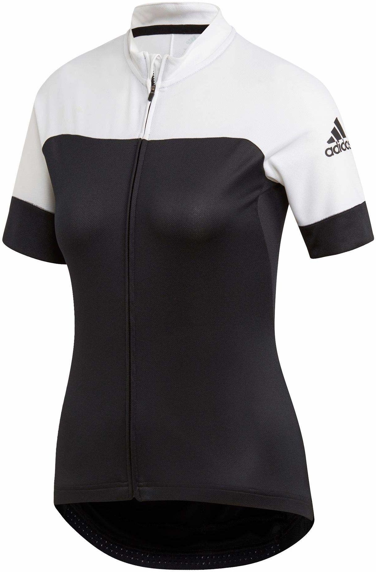 adidas damska koszulka kolarska czarny czarny/biały XXS