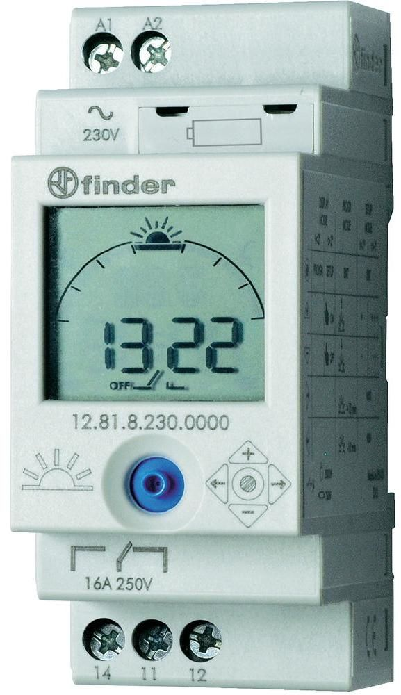 Zegar astronomiczny Finder 12.81.8.230.0000 Zegar astronomiczny 1P 16A 230V AC Finder 12.81.8.230.0000