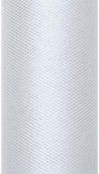 Tiul dekoracyjny jasny szary 15cm rolka 9m TIU15-091J - 15CM JASNY SZARY