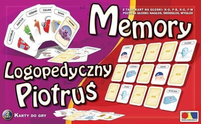 Logopedyczny Piotruś. Memory zestaw 3 - KOMLOGO