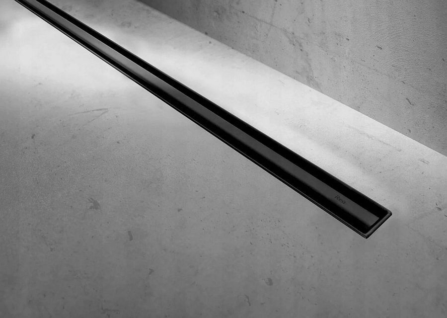 Odpływ liniowy 90 Neo Slim Pro Black Rea (REA-G8903)