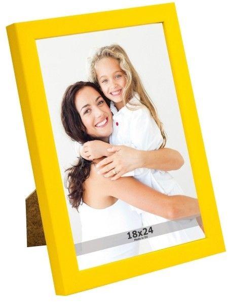 Ramka na zdjęcia 18 x 24 cm żółta