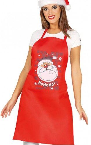 """Fartuch kuchenny świąteczny z mikołajem """"Ho, Ho, Ho!"""""""