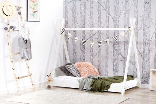 Łóżko 160x80cm Cheeky Monkey Tipi kolor biały