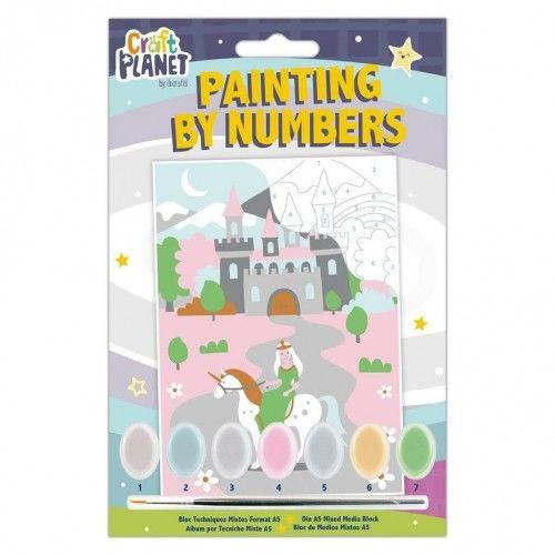 Kreatywny zestaw do malowania Zamek Księżniczki