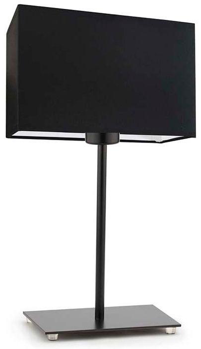 Prostokątna lampka nocna na czarnym stelażu - EX939-Amalfo - 18 kolorów
