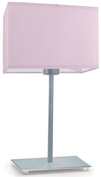 Geometryczna lampka nocna na srebrnym stelażu - EX940-Amalfo - 18 kolorów