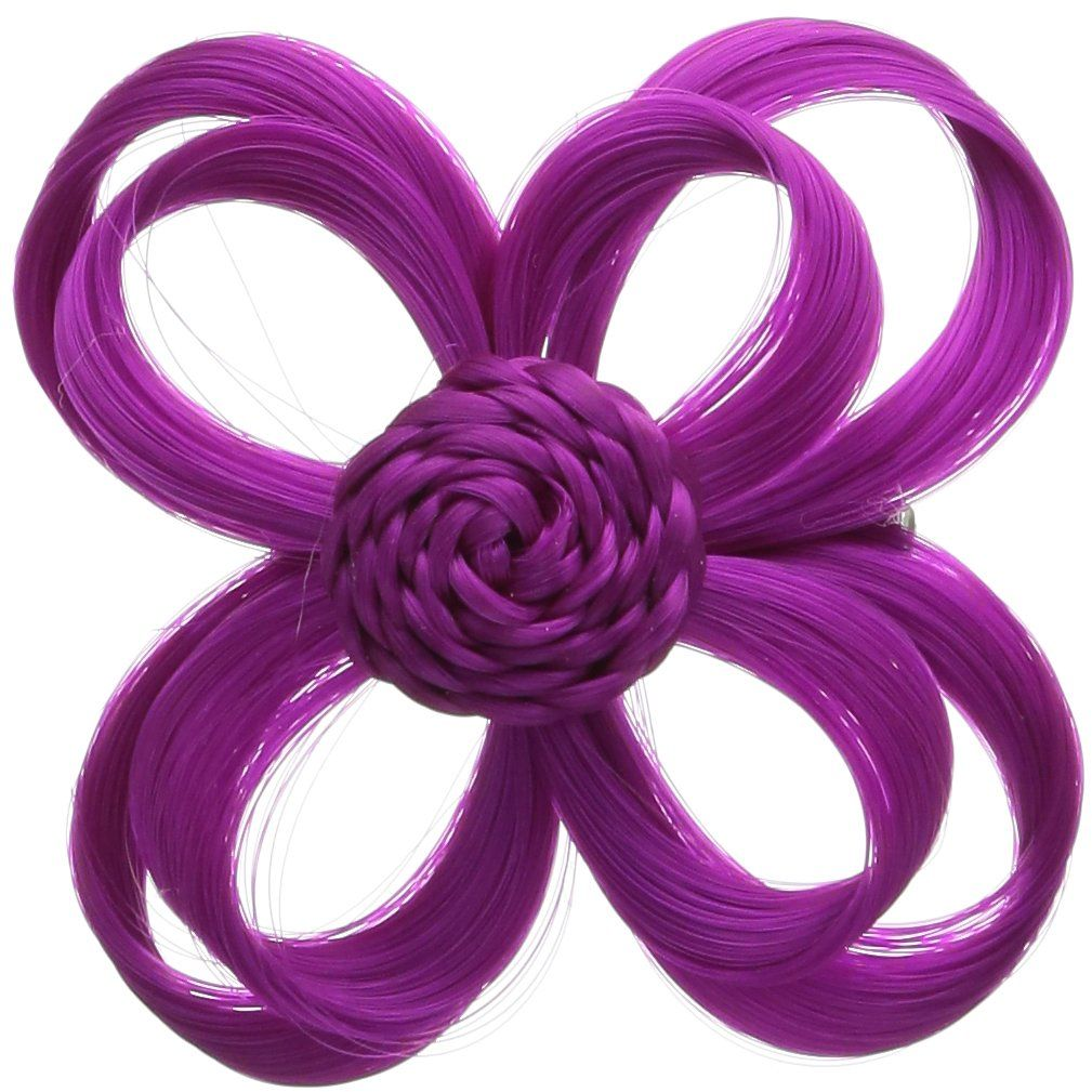 Love Hair Extensions Ozdoba do włosów kwiatowych na elastycznej taśmie, kolor kolor brązowy