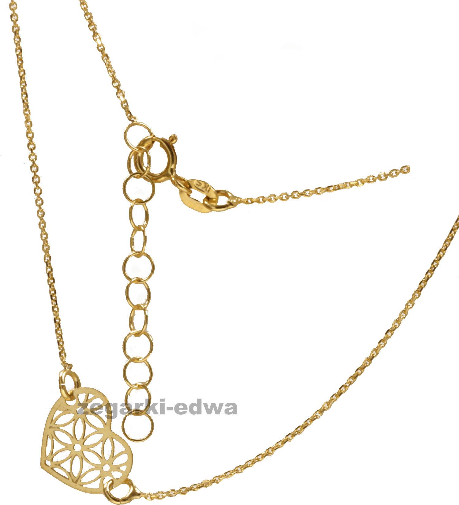 Bransoletka złota, celebrytka z ażurowym serduszkiem, pr.585