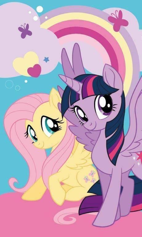 Ręczniczek do przedszkola 30x50 Kucyki Pony My Little koniki tęcza dziecięcy bawełniany 0724