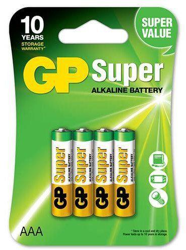 4 x bateria alkaliczna GP Super Alkaline LR03 / AAA