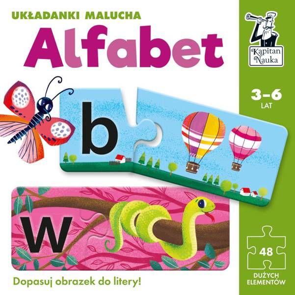 Układanki malucha Alfabet Kapitan Nauka - Edgard