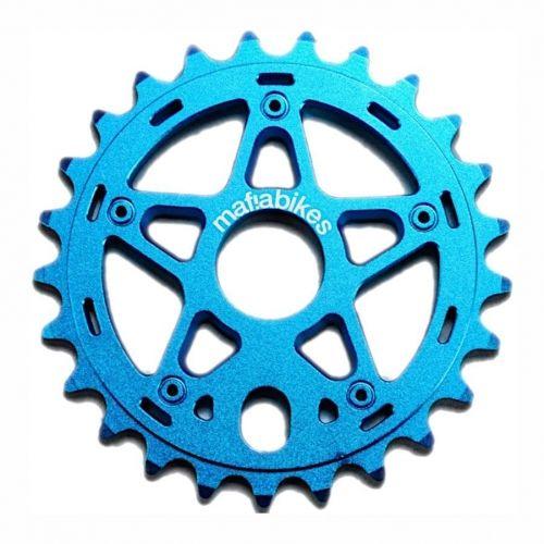 Mafiabikes Gully zębatka BMX MTB Dirt Wheelie Blue