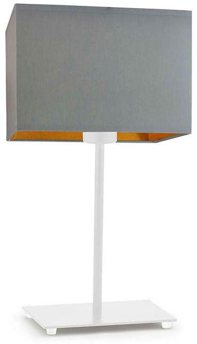 Lampka na szafkę nocną na białym stelażu - EX944-Amalfes - 5 kolorów