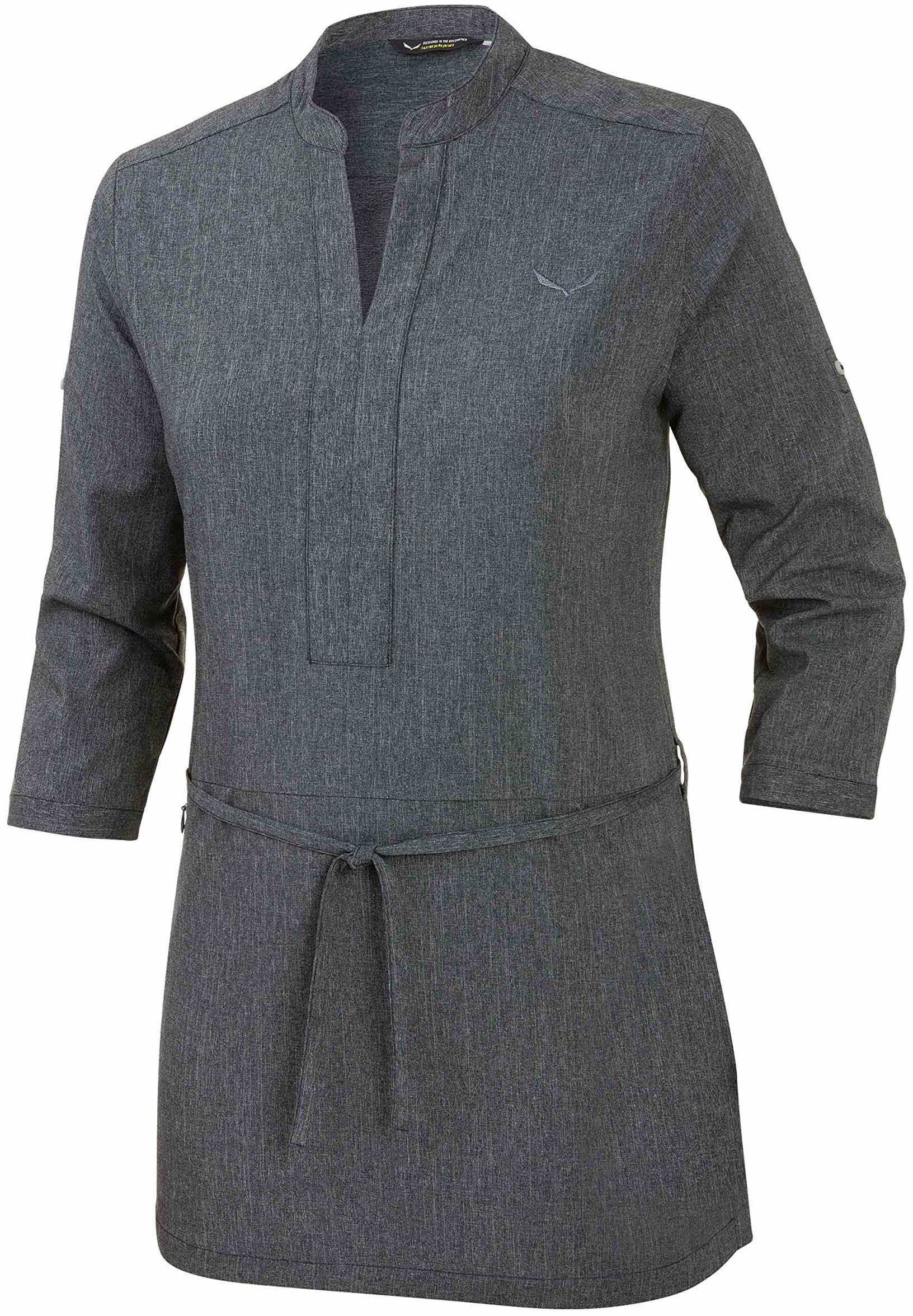 Salewa damska sukienka dla fanów Dst S/S sukienki koszulowe, kobiety, fanes sukienka Dst S/S koszula sukienka, ciemnoszary melanż
