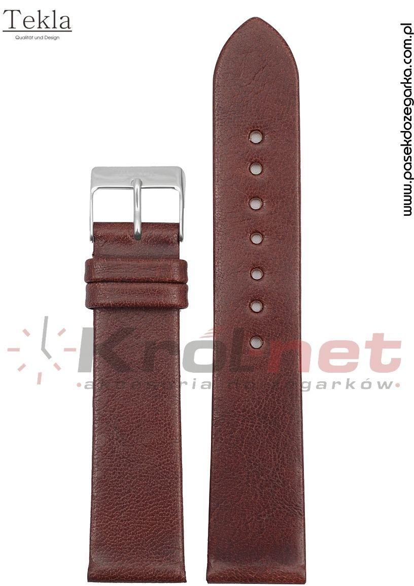 Pasek TK118BR/14 - brązowy, gładki