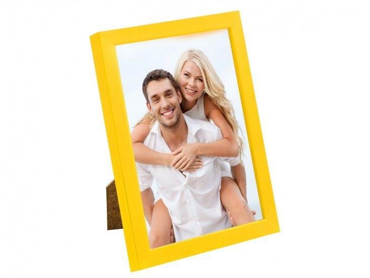 Ramka na zdjęcia 24 x 30 cm żółta
