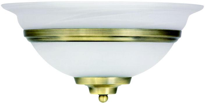 Globo TOLEDO 6897 kinkiet lampa ścienna antyczny mosiądz 1xE27 60W 31cm