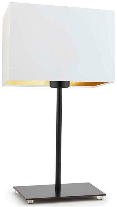 Mała lampka z abażurem na czarnym stelażu - EX945-Amalfes - 5 kolorów
