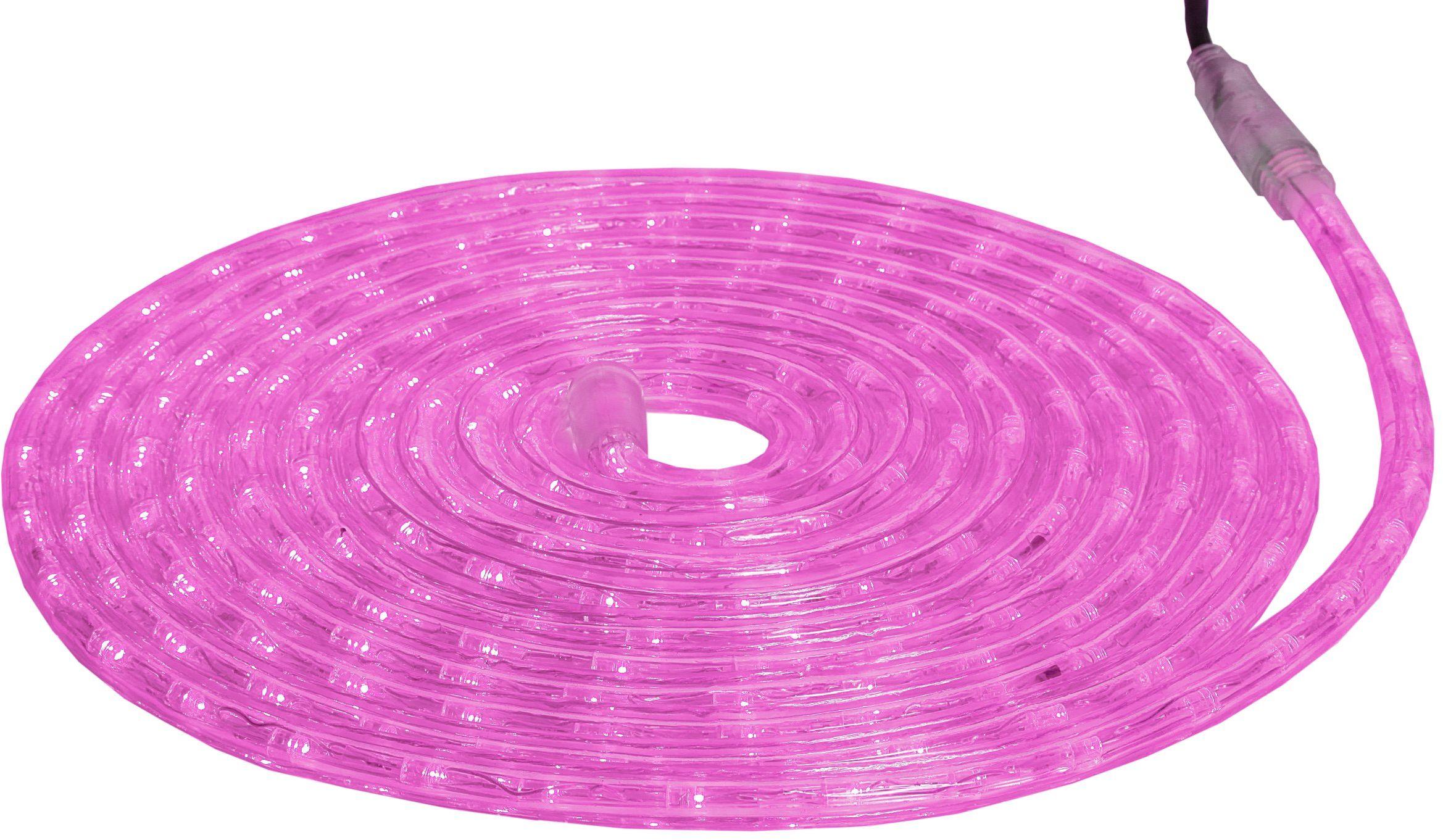 """Best Season LED-Ropelight """"Superflex"""", długość 6 m, różowa, 36 diod LED/m, bardzo giętka, na zewnątrz, czterokolorowy karton 562-04"""