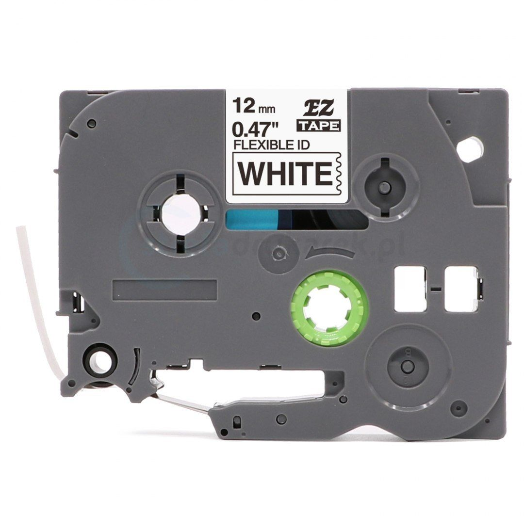 Taśma Brother TZe-FX231 Flexi Elastyczna 12mm x 8m biała czarny nadruk - zamiennik OSZCZĘDZAJ DO 80% - ZADZWOŃ!