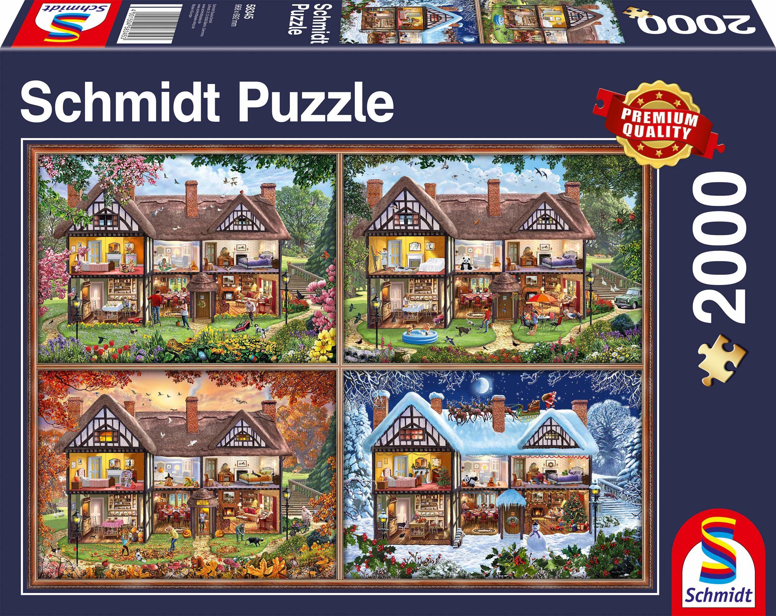 Schmidt Spiele 58345 pory roku dom, 2000 części puzzle