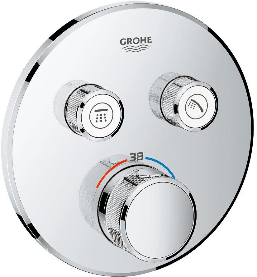 Grohtherm SmartControl bateria wannowo-prysznicowa podtynkowa termostatyczna chrom - 29119000 Darmowa dostawa