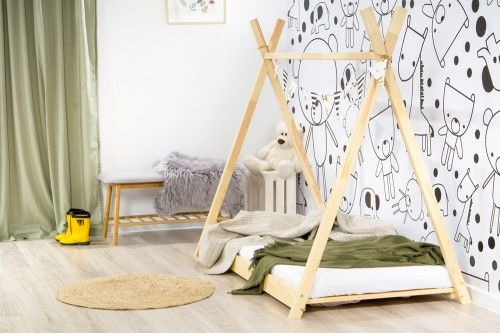 Łóżko 160x80cm Cheeky Monkey Tipi kolor sosna