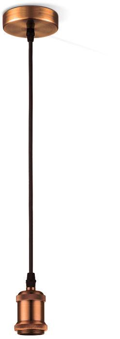 Globo OLIVER A32 lampa wisząca miedź 1xE27 10cm