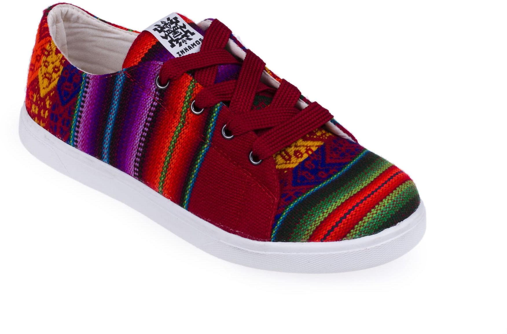 Trampki Inkamos Corto Rojo, oryginalne buty z Peru
