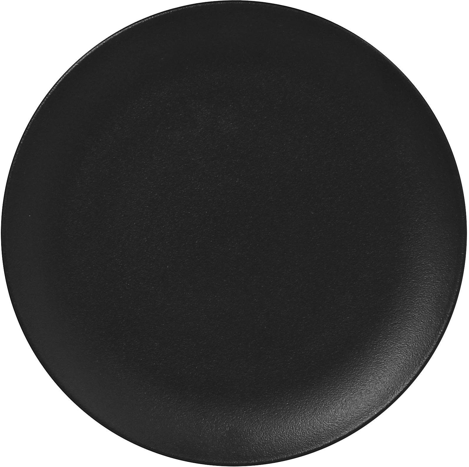Talerz płaski okrągły 270 mm Nano Volcano czarny Neofusion porcelana Rak R-NFNNPR27BK-12