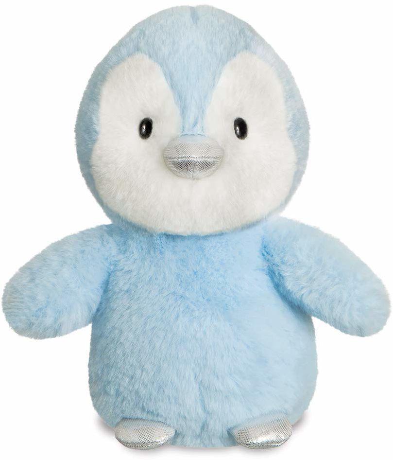Aurora, 61358, pingwin z brokatem, 20 cm, miękka zabawka, niebieski