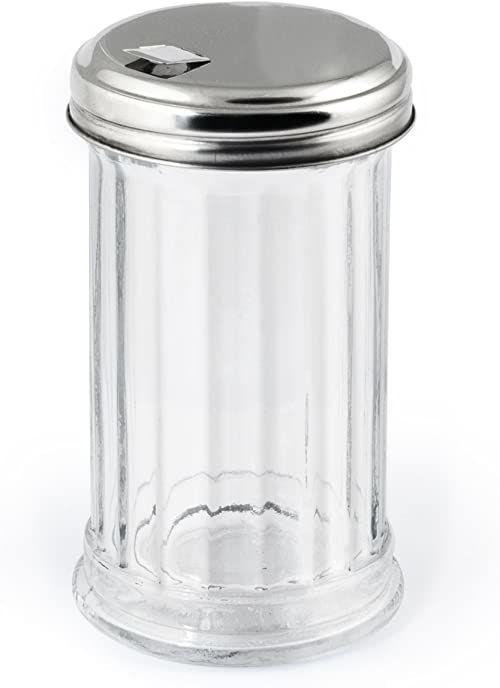 H&H W50115 zestaw cukierniczek ze szkła/stali nierdzewnej, przezroczysty