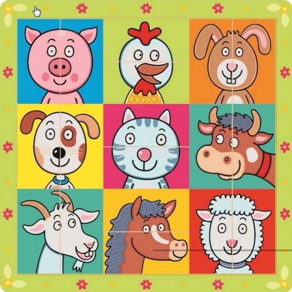 Puzzle układanka głowy zwierzątek