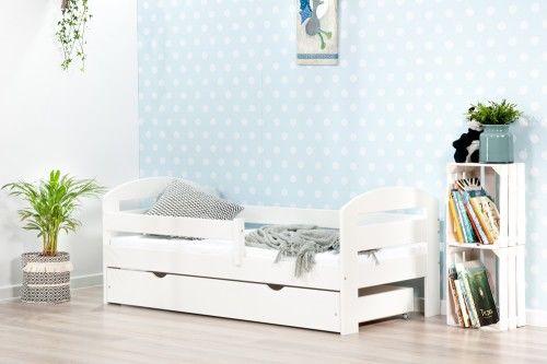 Łóżko 160x80cm BumbleBee pojedyncze z szufladą kolor biały