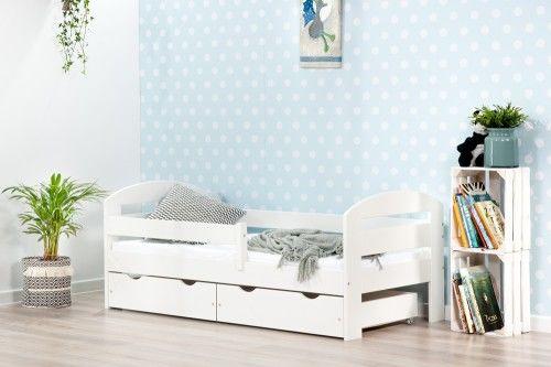 BumbleBee łóżko pojedyncze z dwiema szufladami kolor biały