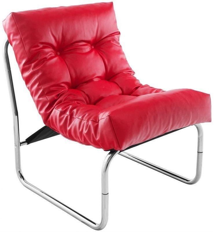 Kokoon design - fotel skórzany boudoir - czerwony