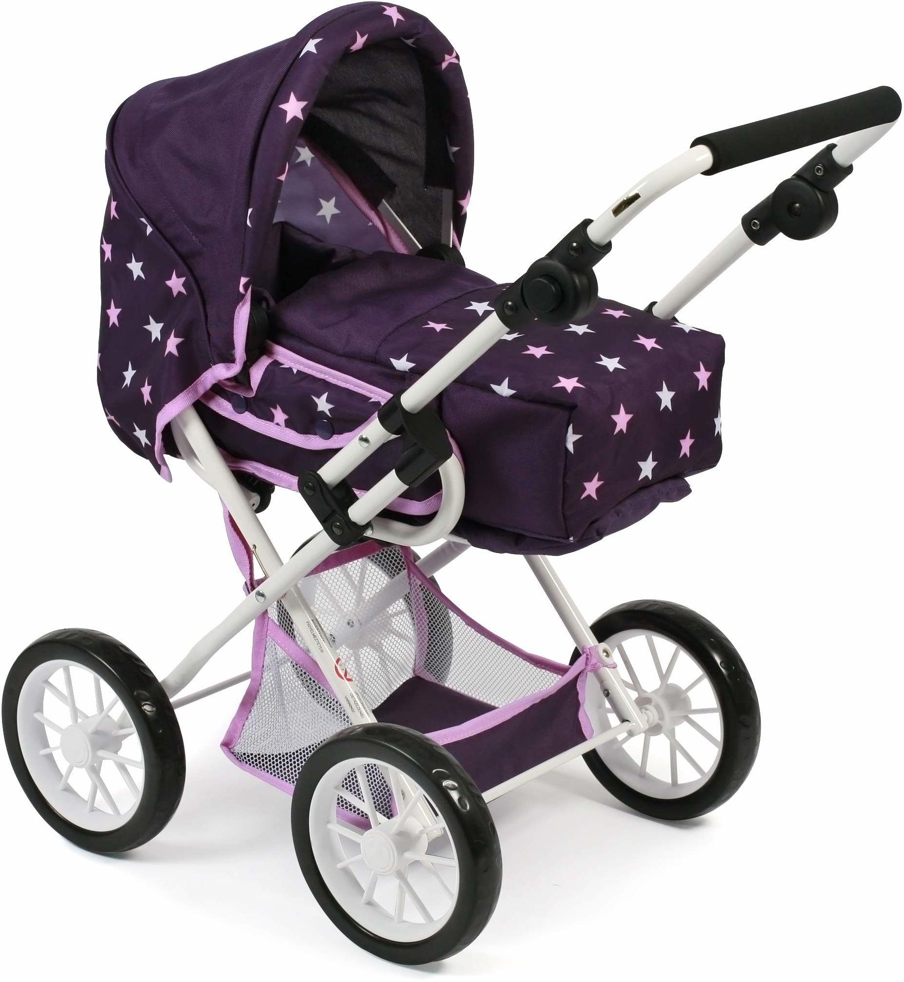 Bayer Chic 2000 560 71 wózek dla lalek kombi Leni, Stars liliowy